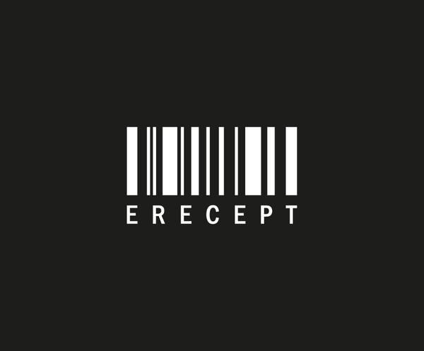 e-Recept - logo negativ